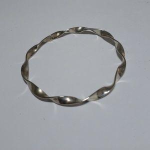 Jewelry - Twisted Silver Bangle Bracelet